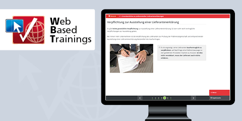 Web Based Training: Grundlagenwissen Lieferantenerklärungen